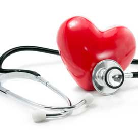 Stethoscope and heart.