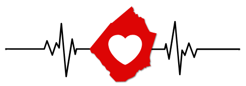 All in Red Heart Logo