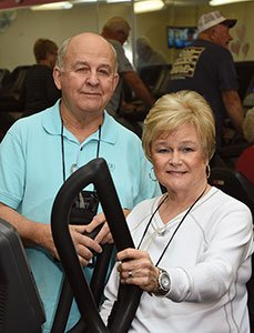 Ronnie & Barbara Hockaday at the gym