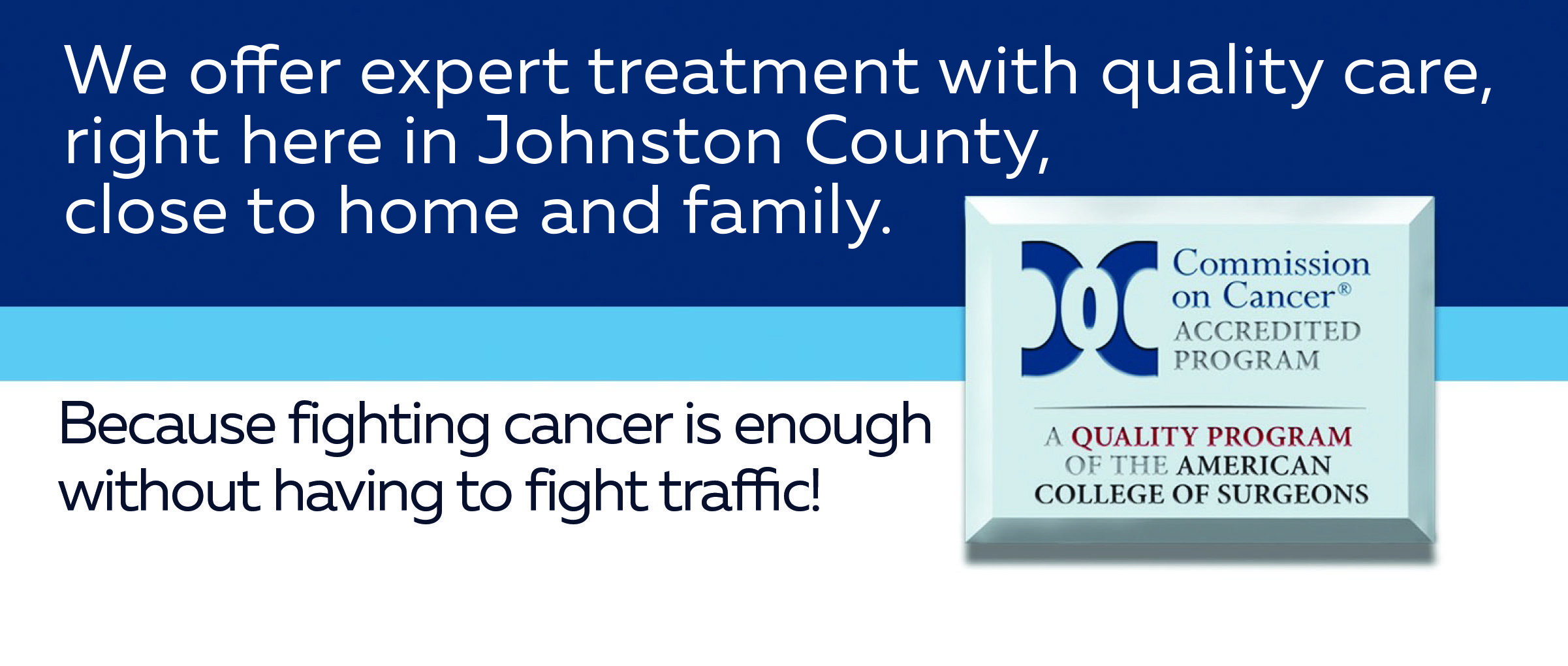 Johnston Health Cancer Services homepage banner