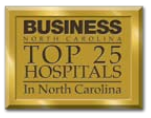 BusinessNC Top 25 Hospitals Logo