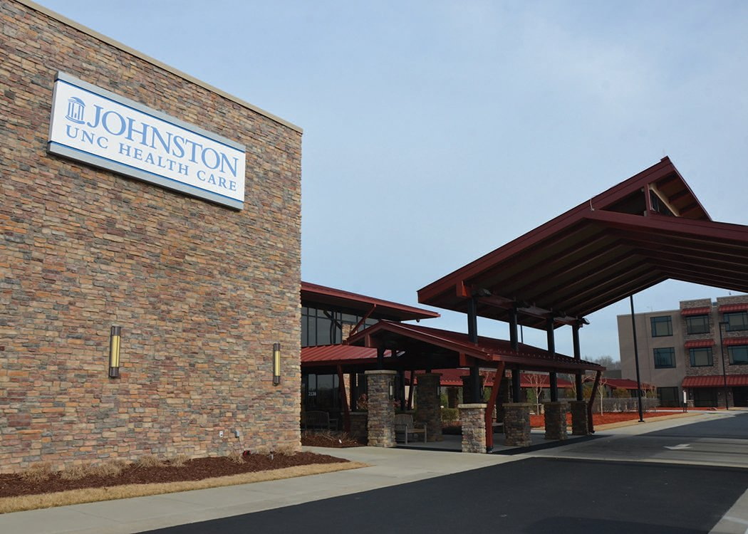 Exterior of Johnston Health in Clayton