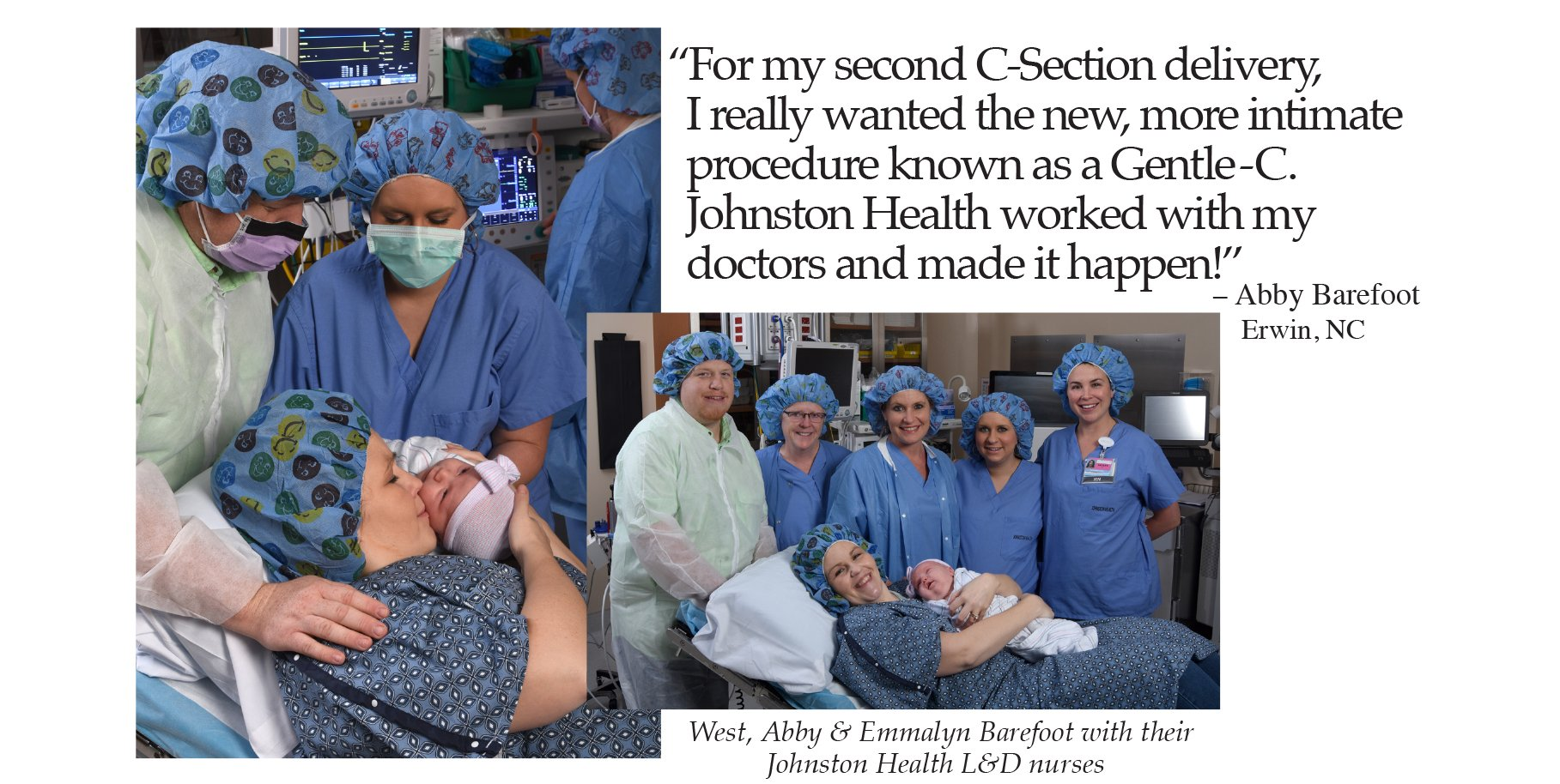 Abby Barefoot's c-section